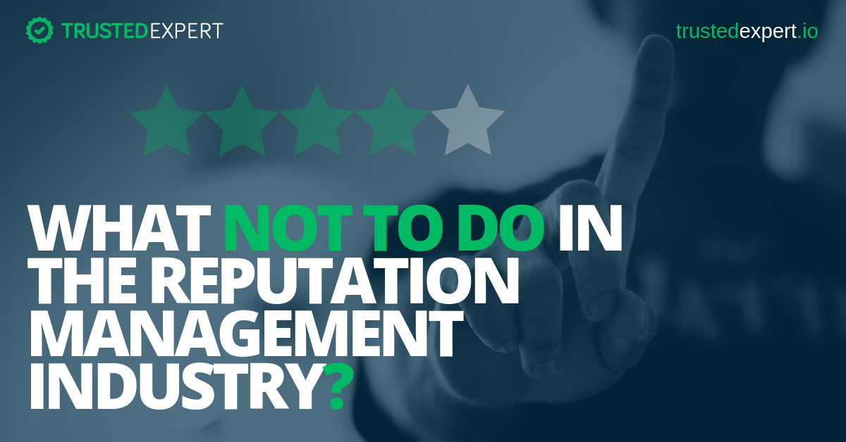 Reputation Management Industry